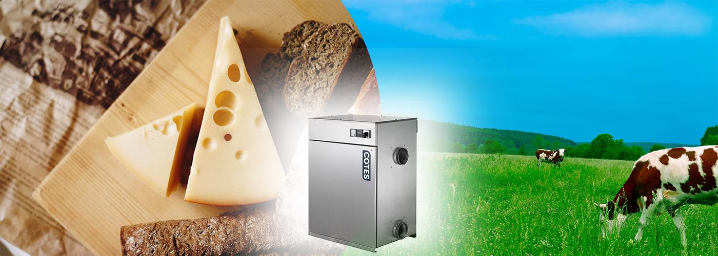 Dehumidifier dairy processing area